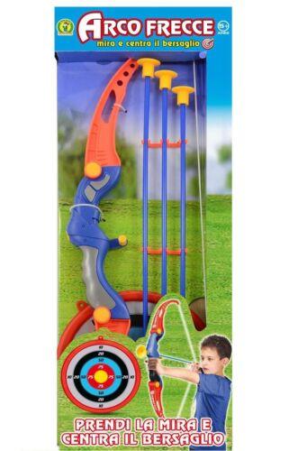 Arco e Frecce giocattolo per bambini con bersaglio tiro a segno gioco bimbi 5+