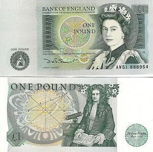 1978-1984. Gran BretaÑa. Interesante Billete De 1 Pound. Sin Circular. Pick 379b Nombreux Dans La VariéTé