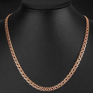 doppia-catena-6-mm-placcato-oro-750-18-kt-oro-rosa-DONNA-UOMO-K1513