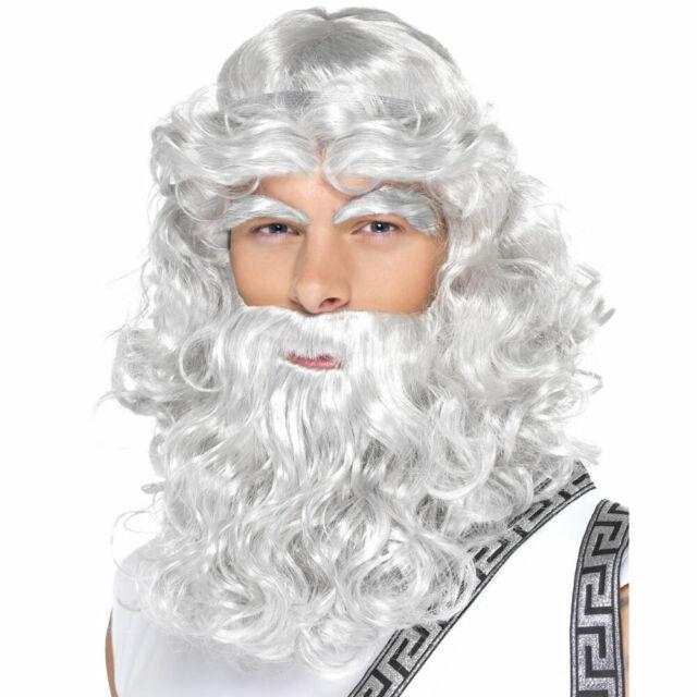 Greek God Zeus Father Christmas Wig Beard and Eyebrows   eBay