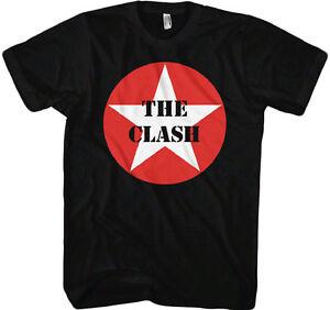 The-Clash-Star-Logo-Adult-T-shirt-English-punk-rock-band-Music-Tee