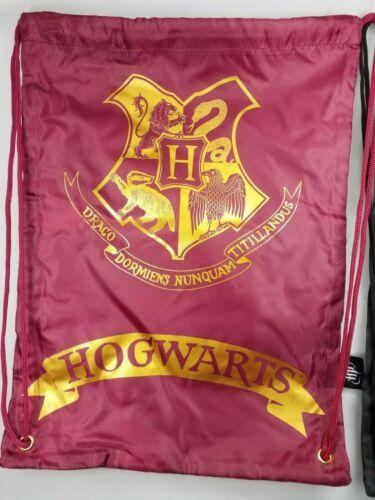 Harry Potter Hogwarts Kids School PE Drawstring Bag Red Black