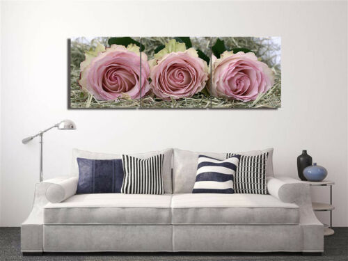 Valentine Rose Pink Oil Painting Abstract ern Print Canvas Wall Decor Set Frame