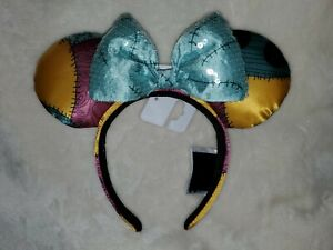 Christmas Minnie Ears 2019.Details About Disney Parks 2019 Sally Nightmare Before Christmas Minnie Sequined Bow Ears Nwt