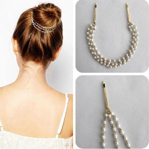 Lady exquis en métal strass tête chaîne bijoux Bandeau Head Piece Hair band