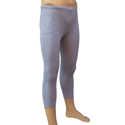 CHEX Cotton Lycra 3//4 Leggings Premium Mens Training Fitness Yoga Running Grey