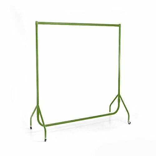 Heavy Duty Garment Rail Shop Display Wardrobe Clothes 6ft 5ft 4ft 3ft GREEN