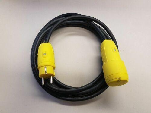 Verlängerungskabel H07RN-F 3x1,5 mit gelben Stecker ab 5m IP44 Aussen