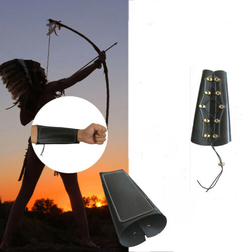 Leather Archery Arm Cow Guard Shooting Recurve Longbow Bow Hunting Protector LH
