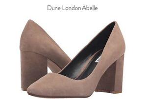 Abelle Dune LondonEscarpin femmesSz9 M4075 en taupe pour daim qMpSGLzUV