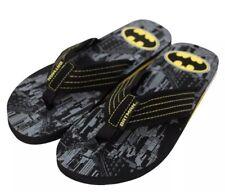 cbfe686f2997 item 4 Mens License Sz Large 11 12 Batman Flip Flops Sandals Black DC Comics  City Pool -Mens License Sz Large 11 12 Batman Flip Flops Sandals Black DC  ...