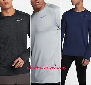 Activewear Tops Intellective Nike Therma-sphere Element Men's Long-sleeve Running Top Rapid Heat Dissipation