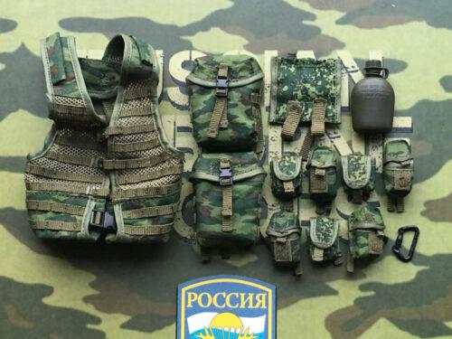 DAMTOYS russian airborne pkp artilleur 6SH112 molle sangle set loose échelle 1//6th