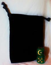 Custom D6 Dice Pair w/ Pouch - CRESCENT MOON - STAR - ISLAM