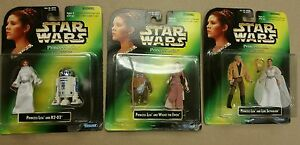 Collection Leia Star Wars Princesse Leia Luke R2-d2 Wicket Lot de 3 figurines Carrie Fisher