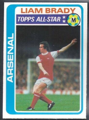 TOPPS-FOOTBALL LIAM BRADY PALE BLUE BACK 1979 -#150- ARSENAL