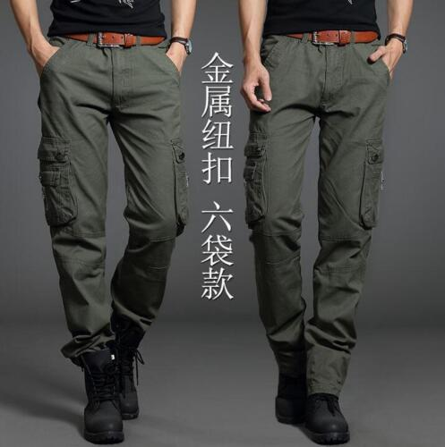 Men/'s Army Cargo Overall Military Combat Tactical Casual Outdoor Pants Trousers