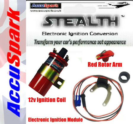 Red Rotor /& Coil Ford Essex V6 for Motorcraft Stealth Electronic Ignition Kit