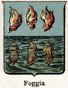 Foggia-Small-Crest-1901-Chromolithography-Print-Ancient-mat