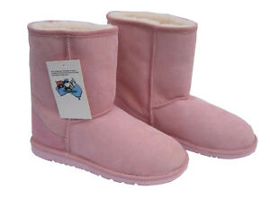 Classic-Midcalf-Ugg-Boots-Pink-Australia-Sheepskin-Short-Wool-Boot-New