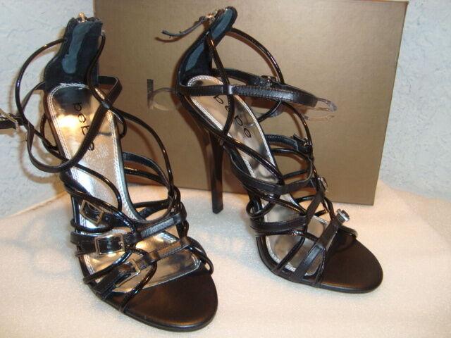 BEBE FEMME NEUF avec BOITE Sonora Noir Sandales Chaussures 8 Med New