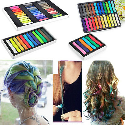 Non-toxic Assorted Temporary DIY Hair Color Chalk Pastels Salon Multi Colors Kit