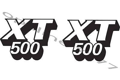 2 Adesivi Serbatoio Yamaha 500 Xt 500xt 12 Cm