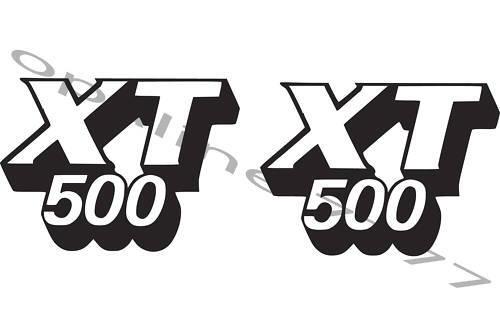 2 STICKER AUTOCOLLANT RESERVOIR YAMAHA 500 XT 500XT