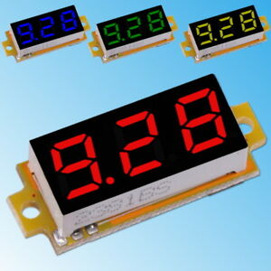 0-10V-DC-Voltmeter-3-Leiter-Mili-LED-Anzeige-Digital-Spannung-Strom-Panel