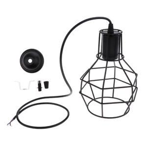 Lustre-Suspension-Salon-Industriel-en-Fer-Cage-de-Lampe-E27-Decoration
