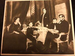 Rare-1909-Vintage-Photogravure-Print-of-President-Lincoln-Family-R-B-McClure