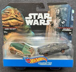 Hot-Wheels-Star-Wars-Jabba-vs-Han-Solo-en-Carbonita-caracter-Coche-twin-raro-conjunto