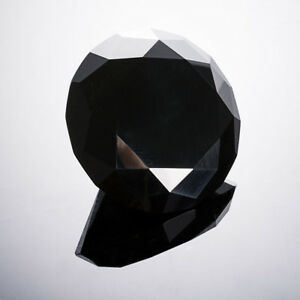 8pcs-Black-Crystal-Paperweight-Cut-Glass-Giant-Diamond-Jewel-Craft-Decor-40mm