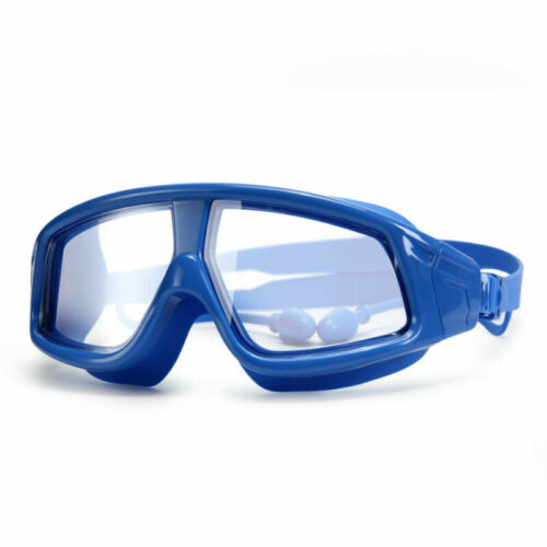 Swimming Goggles Anti-Fog UV Protection Clear Glass Earplug For Kids Children US