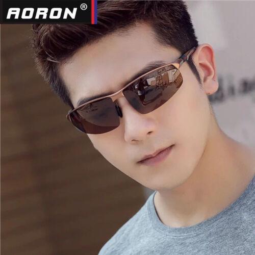 Men HD Aluminium Polarized Sunglasses Pilot Sport Driving Eyewear UV Sun Glasses