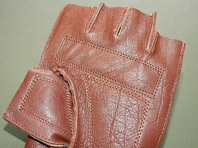 """Conscientious Antique 1880s Style Russet Leather Fingerless """"workman"""" Baseball Glove Repro Elegant Appearance Team Sports"""