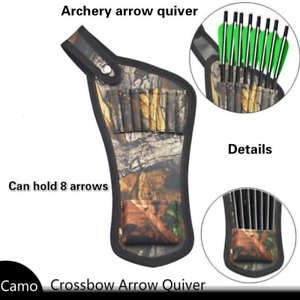 Archery Crossbow Arrow Quiver Bag Side Quiver Compound Recurve Bow Pouch Holder