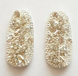 2x-Silver-Nails-Gem-Crystal-Metal-Nail-Art-Charm-for-Acrylic-Gel-and-Sculptured