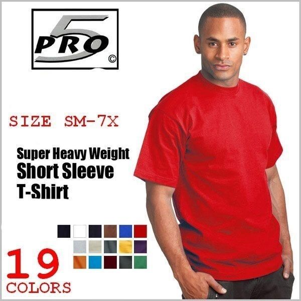 PRO 5 SUPER HEAVYWEIGHT LONG SLEEVE T-SHIRT SM-7X ANY COLOR SINGLE TEE