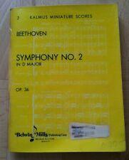 Beethoven Symphonie Nr 2 taschenpartitur