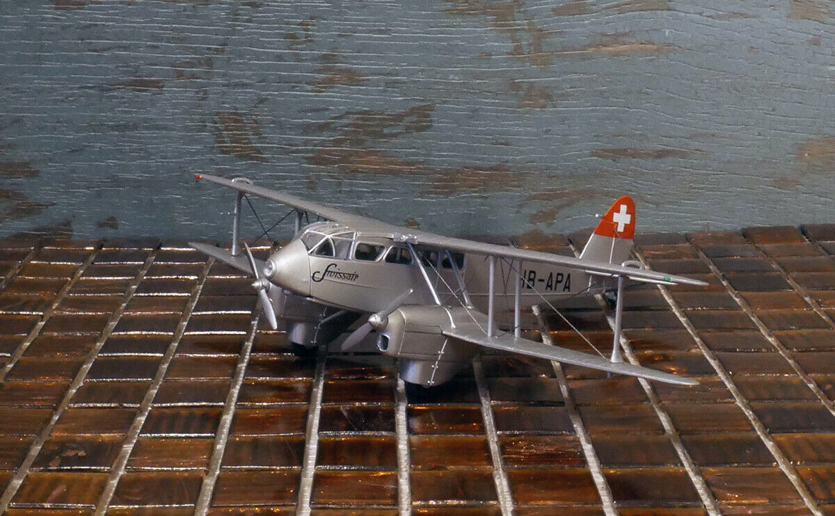 Oxford specialee Release D.H.89 Dragon Rapide Swissair HB-APA Airplane ULTRA RARE