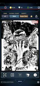 Topps Marvel Collect Inked AGENT VENOM Super Rare Digital Tilt Card