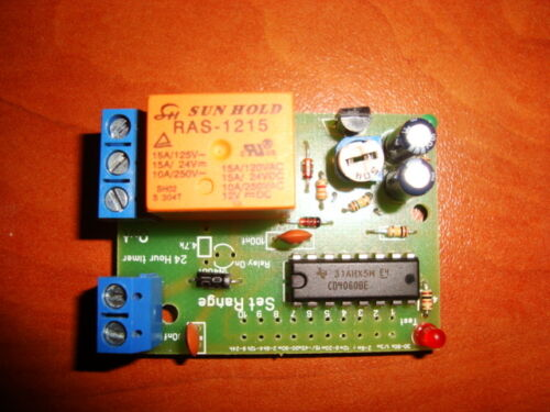 CYCLIC AVERAGE INTERVAL TIMER SWITCH REPEATER RELAY 25 S TO 31 HRS KIT 12V//10A