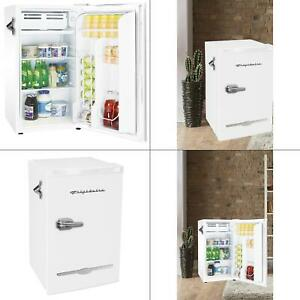 Details About 3 2 Cu Ft Retro Mini Fridge In White New Compact Refrigerator Small Office