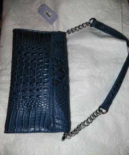 Blue or Multi Red Designer Marc Fisher Handbag Croco Clutch Handbag Purse