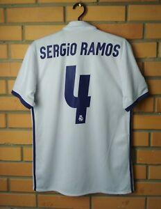 d84f3855f Real Madrid Home football shirt  4 Sergio Ramos 2016-2017 S jersey ...