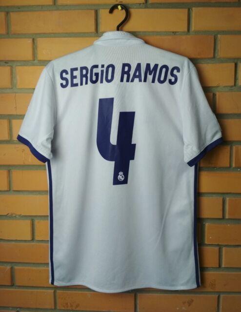 buy online de238 e2365 Real Madrid Home football shirt #4 Sergio Ramos 2016-2017 S jersey soccer  Adidas