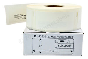Label Writer Multipurpose Labels Compatible For Dymo 30336 500 labels per roll
