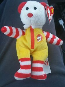 27a0e910783 Ty Beanie Baby Ronald McDonald McDonald s The Bear 2004 - Estate ...