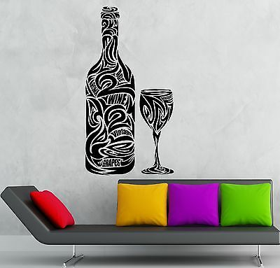 Wall Stickers Vinyl Decal Drink Wine Grapes Alcohol Kitchen Restaurant (ig1823)
